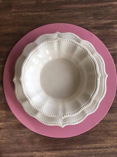 "Base de plato con funda desmontable ""Rosa"""