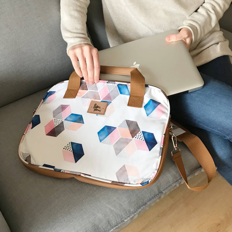 Bolso Notebook Hexágonos