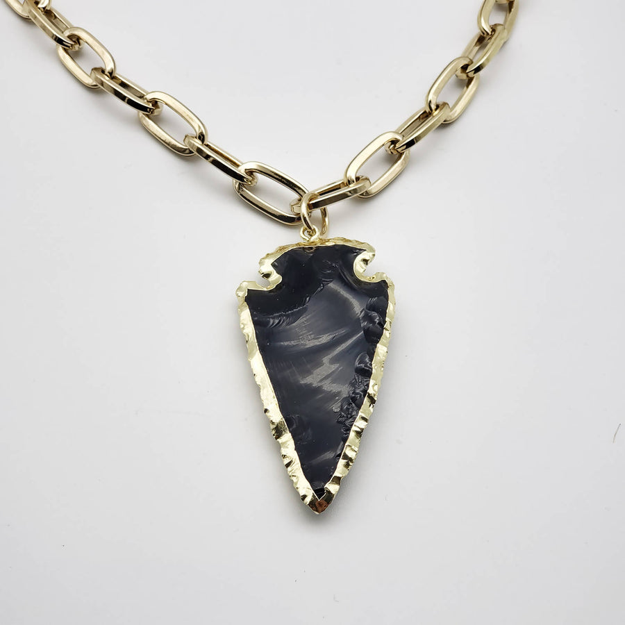 Collar Lanza Obsidiana