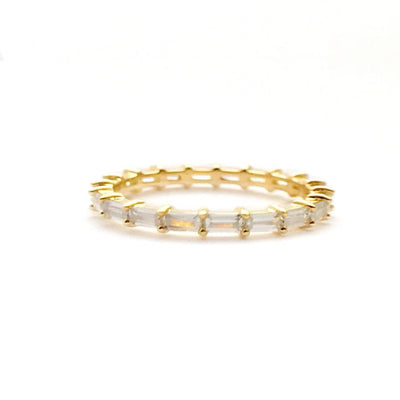 Anillo eternity baguette gold