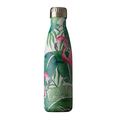 PUUR BOTTLE FLAMINGO, BOTELLA ACERO INOXIDABLE COLECCIÓN NATURA 500 ml