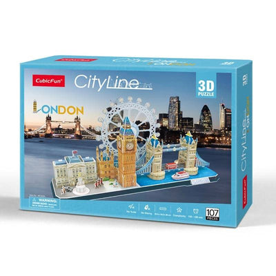 London City Line Puzzle 3D - Cubicfun