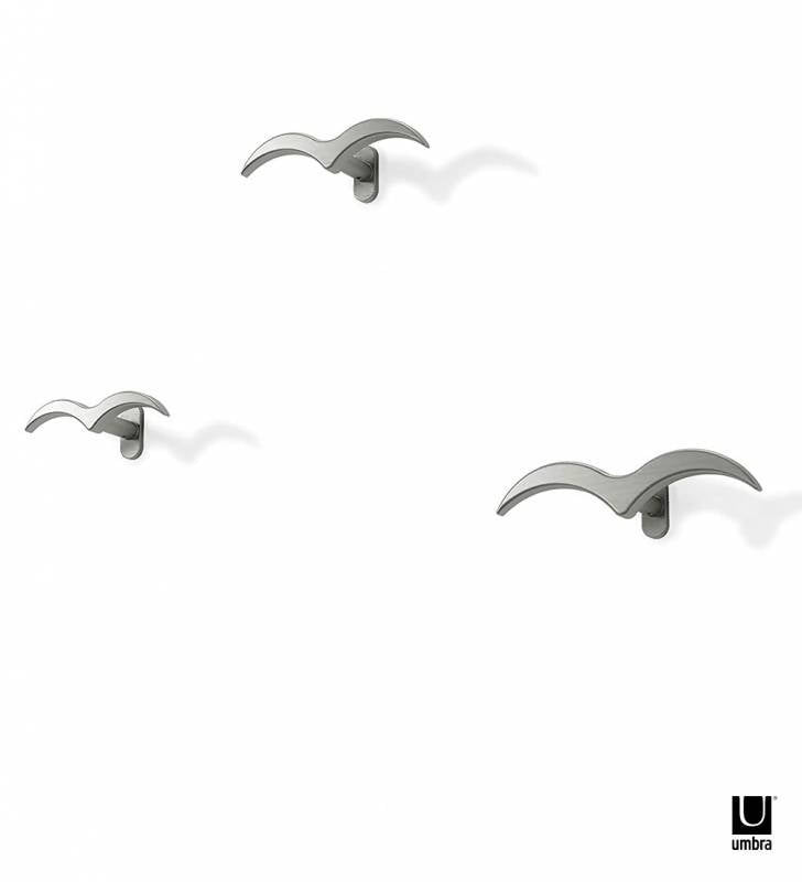 Set 3 Perchas Muro Gaviota Umbra