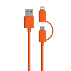 TECH N' COLOR 4 Foot Micro-USB and MFi Lightning® Compatible Combo Cable
