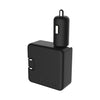 Road Warrior 2.4A All-in-One Car and Wall Charger with Micro-USB, Lightning® Connector and C-Tip Compatible Adapter