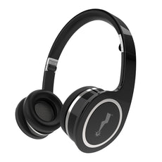 Fold-Up On the Ear Headphones with In-Line Microphone - Black