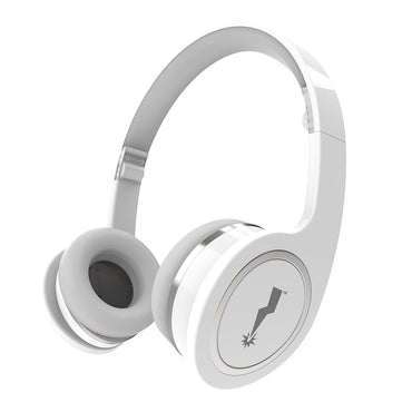 Fold-Up On the Ear Headphones with In-Line Microphone - White - Limited Quantity