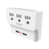 Power Play UL Certified Triple Outlet Wall Adapter with Dual USB Ports