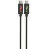 LightningBug 4 Foot LED Micro-USB Charge & Sync Cable – Black