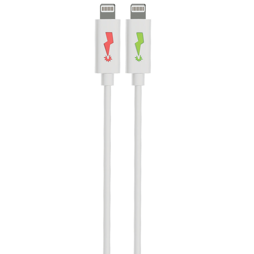 LightningBug 4 Foot LED MFi Lightning® Connector Charge & Sync Cable – White