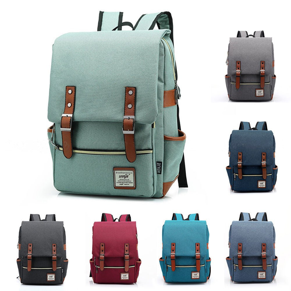Canvas Vintage Backpack Travel Backpack Daypack Hiking Camping School  Rucksack for Women Men 37bdbb4f7dcae