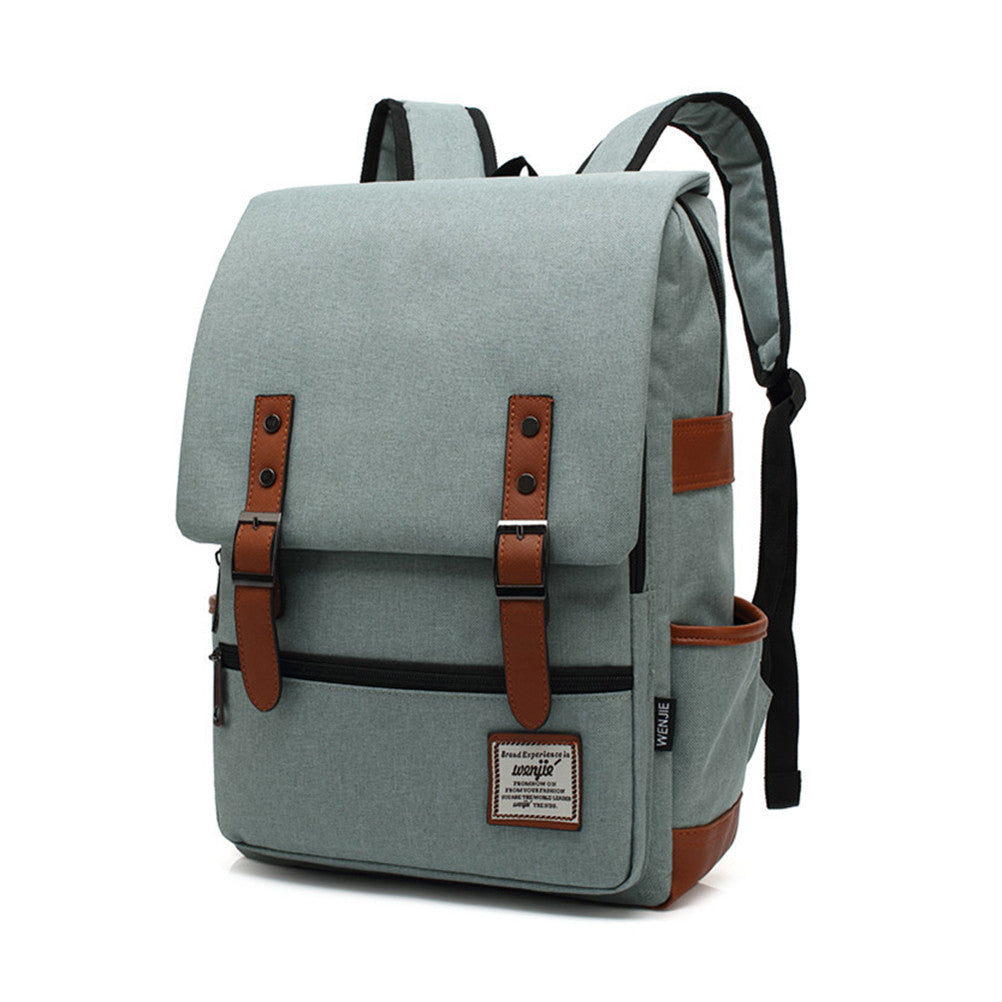 Canvas Vintage Backpack Travel Backpack Daypack Hiking Camping School  Rucksack for Women Men fc2ce492f0a84