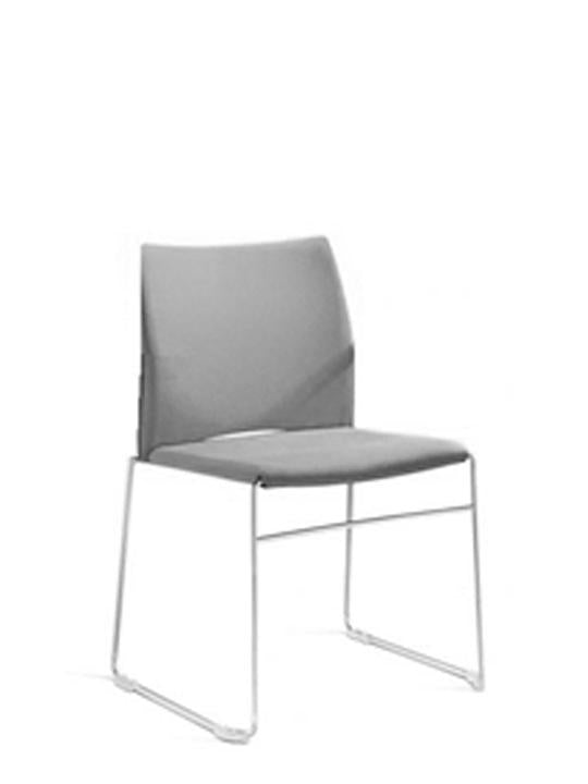 Versa Sled side chair - Upholstered seat & back