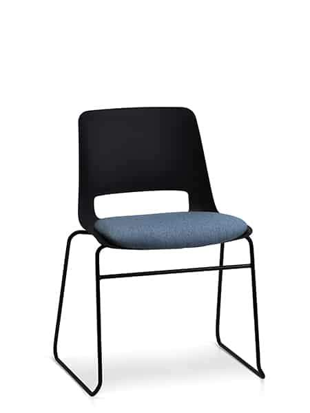 Unica Sled with Seat Pad - Boardroom/ Meeting Chairs - pimp-my-office-au
