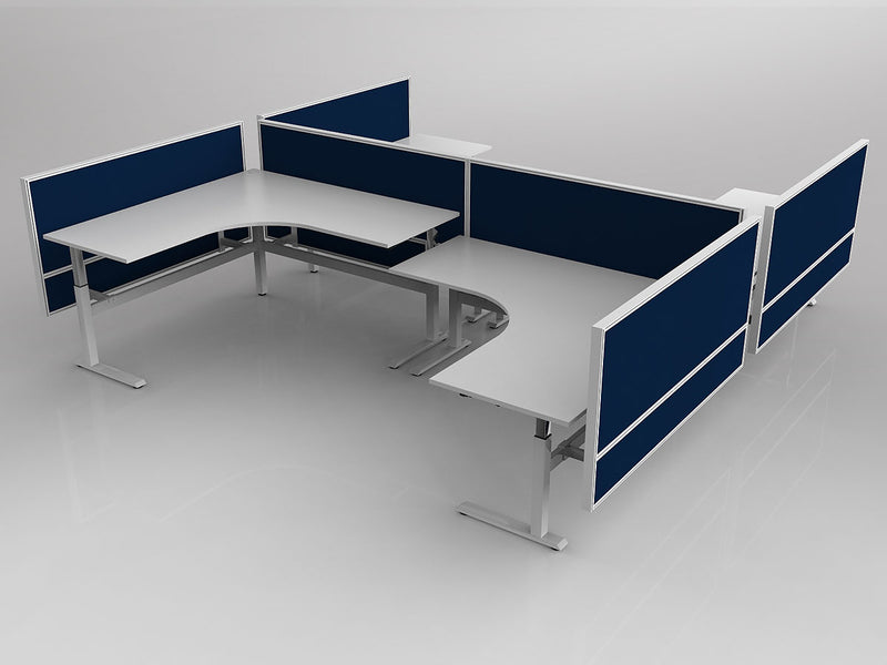 Axis Highrise pod of 4 workstations sit to stand -  - pimp-my-office-au