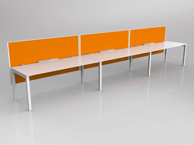 Axis desking 3 person side by side 1800 x 750