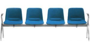 Unica 4 Seat Beam – Upholstered