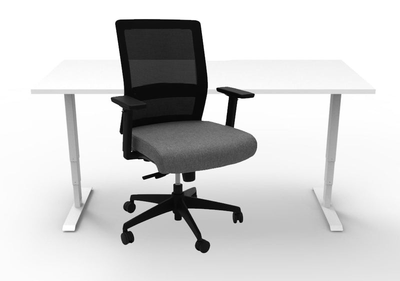 Boost Sit-Stand - Gesture Mesh Chair - Hire Home Office Set