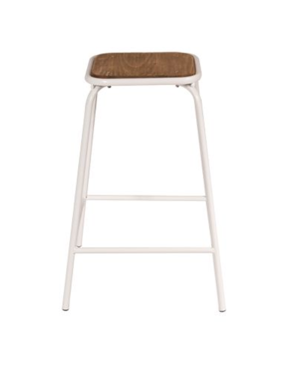 CONCEPT TUBE COUNTER STOOL - WHITE/BROWN - Stools - pimp-my-office-au