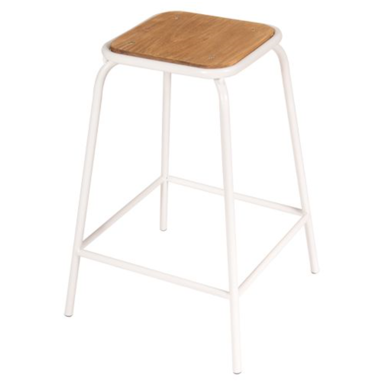 CONCEPT TUBE COUNTER STOOL - WHITE/BROWN