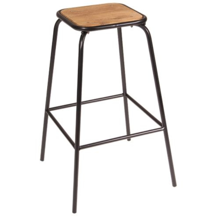 CONCEPT TUBE BAR STOOL - BLACK/BROWN