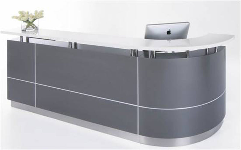 Executive J-Shape Reception Counter