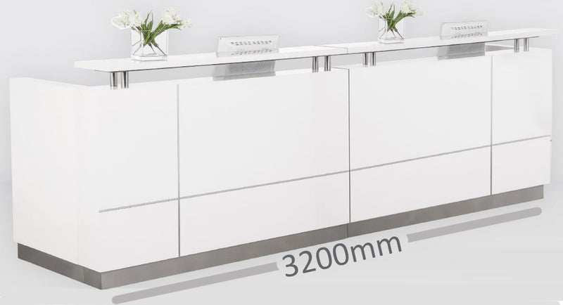 Hugo Plus Gloss White - Reception Counters - pimp-my-office-au