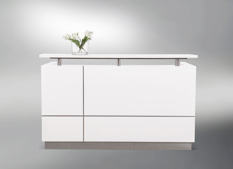 Hugo Gloss White Reception Counter