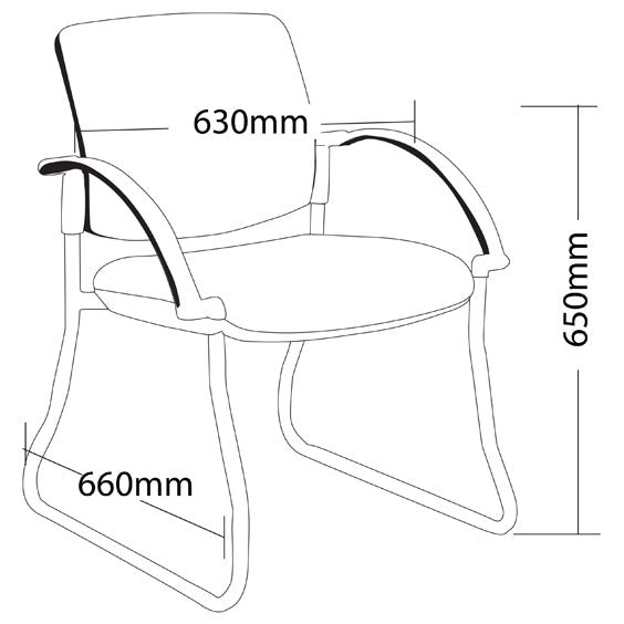 Maxi Sled Base-Hospitality Seating - Visitor/ Side Chairs - pimp-my-office-au