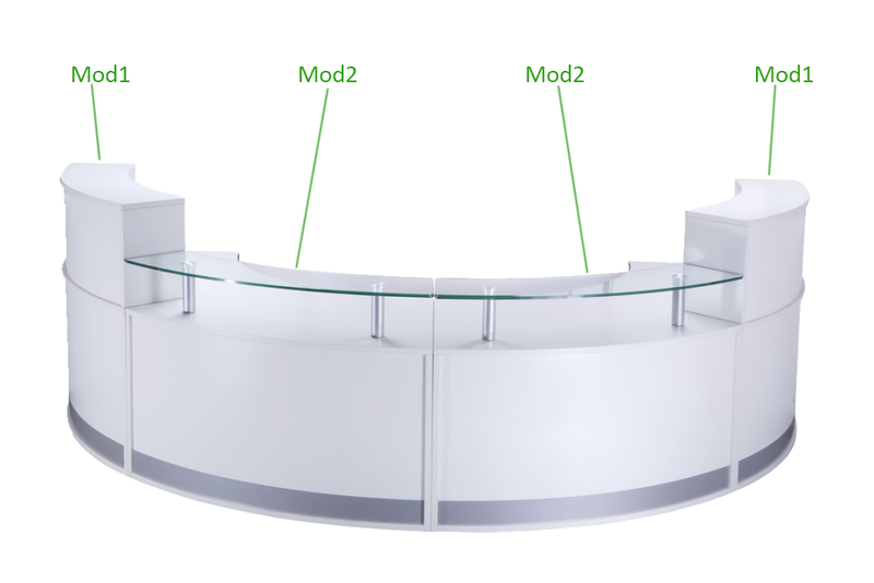 Rapid Modular Reception Counter - Best Reception Desk in Australia