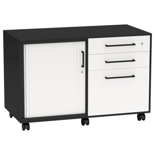Nexus Tambour Door Caddy Unit - Mobile Pedestals/ Caddys - pimp-my-office-au