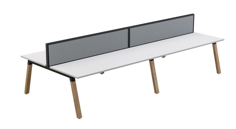 Plantation 4 users Double-Sided Desk with Studio 50 Screen