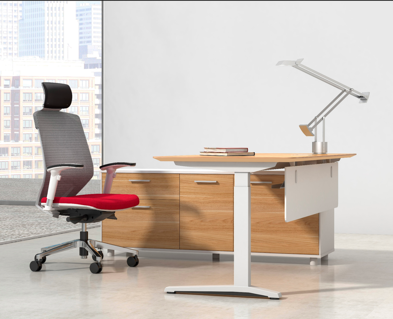 Potenza Height Adjustable Executive Desk - sit to stand - pimp-my-office-au