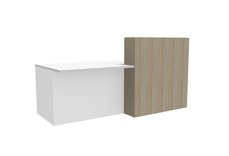 Split Reception Desk with Counter