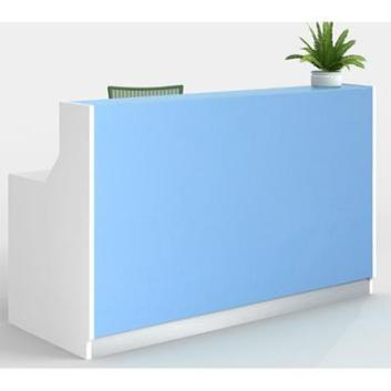 Roma Reception desk -  Blue glass - Reception Counters