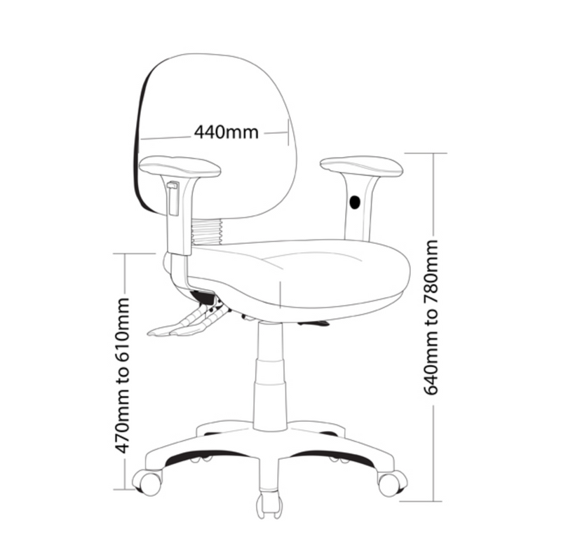 P350-Express Range Chair - Task/ Desk Chairs - pimp-my-office-au