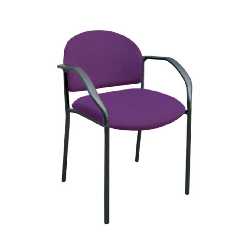 UNO - 4 LEG MEDIUM BACK (ROUND BACK) - Visitor/ Side Chairs - pimp-my-office-au