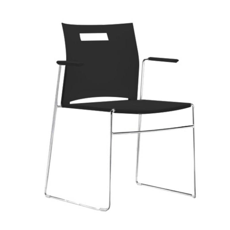 UNO Plastic cafe with arm - Visitor/ Side Chairs - pimp-my-office-au