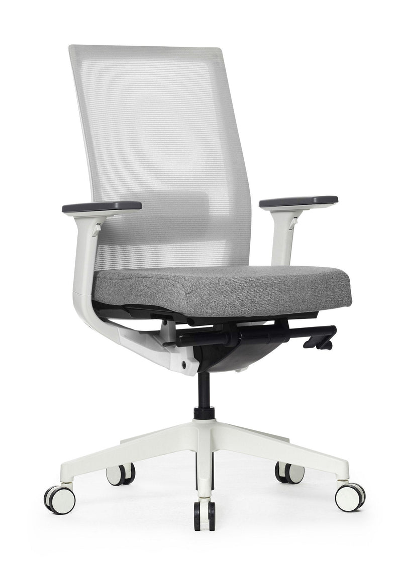 A One Mesh Ergonomic Task Chair White