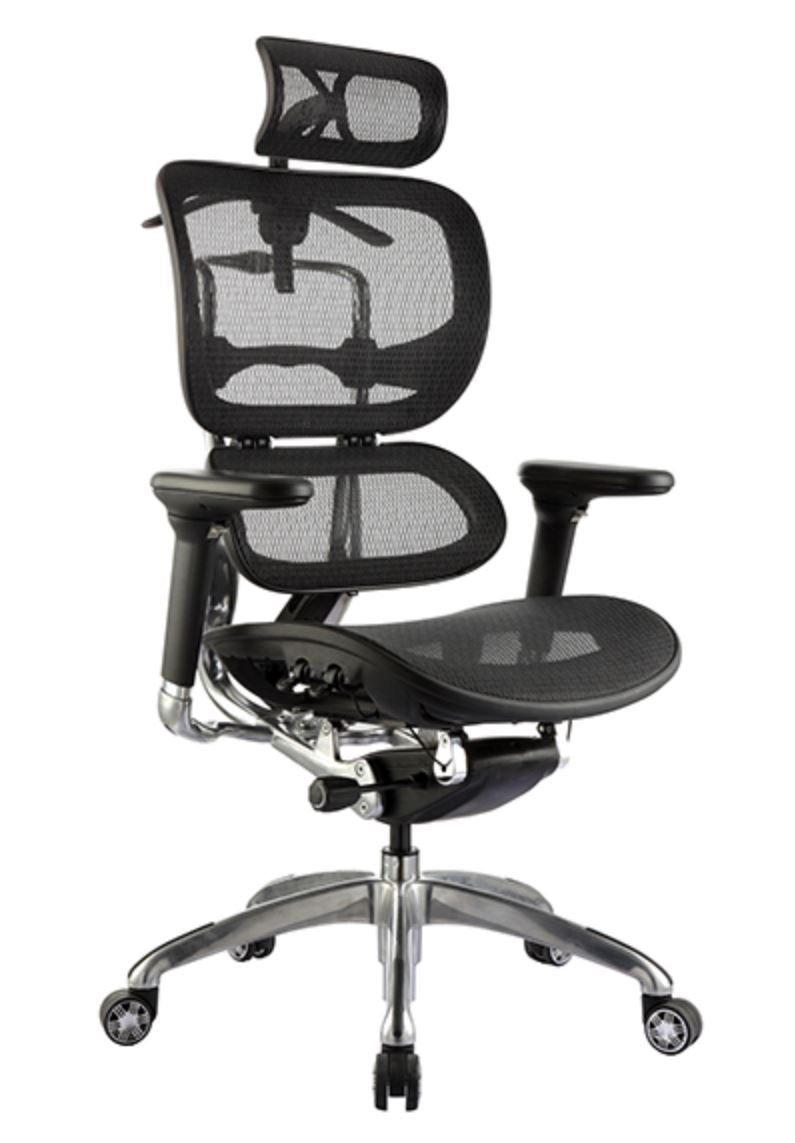 Ergo 1 Office Chair With Head Rest - Style Ergonomics