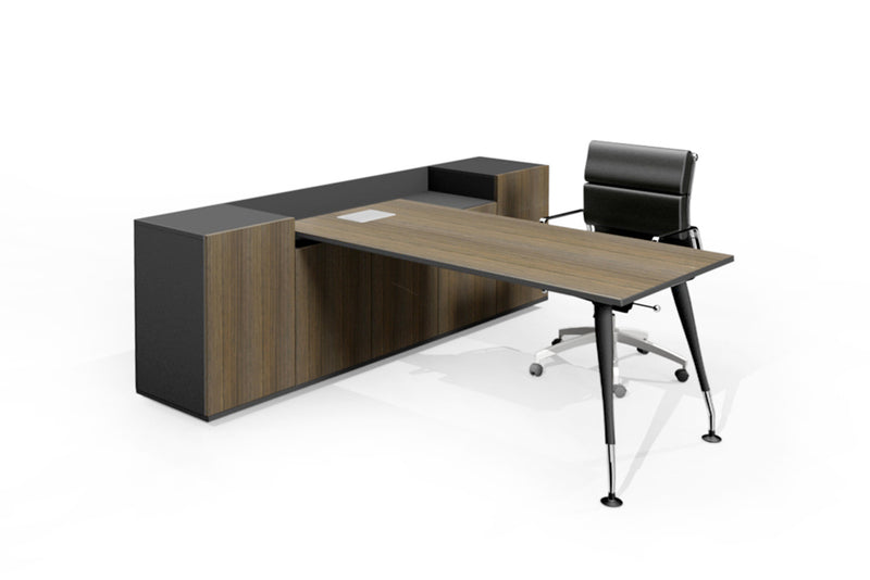 2 TONE STORAGE EXECUTIVE DESK - Workstations - pimp-my-office-au
