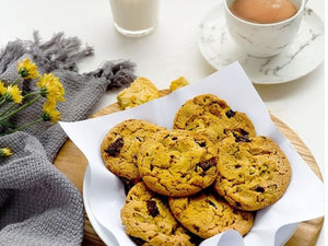 COOKIES DE CAFÉ, NUECES Y CHOCOLATE