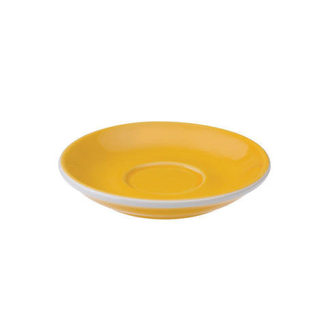 TAZA Y PLATO PARA CAFÉ ESPRESSO LOVERAMICS EGG 80ML AMARILLO (YELLOW)