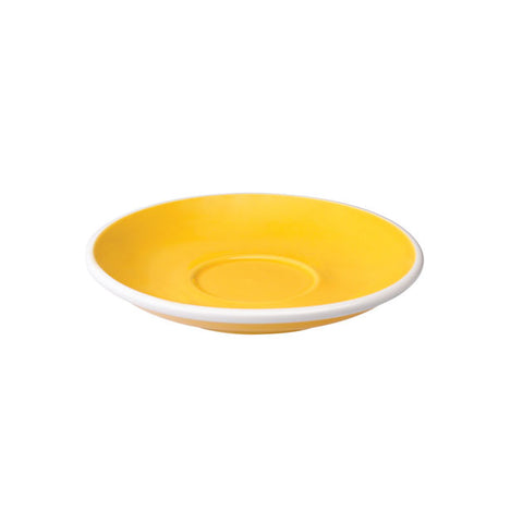 TAZA Y PLATO PARA CAFÉ CAPPUCCINO LOVERAMICS EGG 200ML AMARILLO (YELLOW)