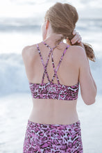 Laden Sie das Bild in den Galerie-Viewer, Yoga Bra Sport BH PINK LEO