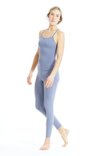 "Laden Sie das Bild in den Galerie-Viewer, Yoga Jumpsuit Cross ""Blue Granit"""