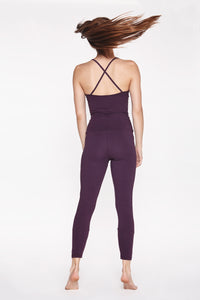 Yoga Jumpsuit Cross BURGUNDY