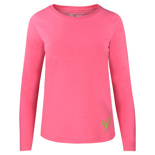 Yoga Shirt BASIC Langarm, Rosa