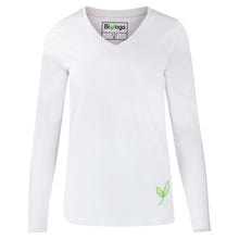 "Laden Sie das Bild in den Galerie-Viewer, Yoga Shirt Basic Langarm ""White"""