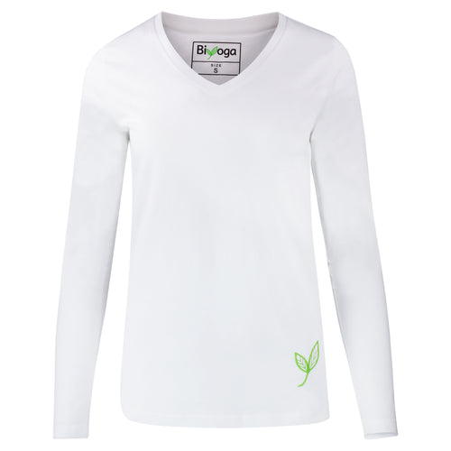 Yoga Langarm-Shirt BASIC , Weiß